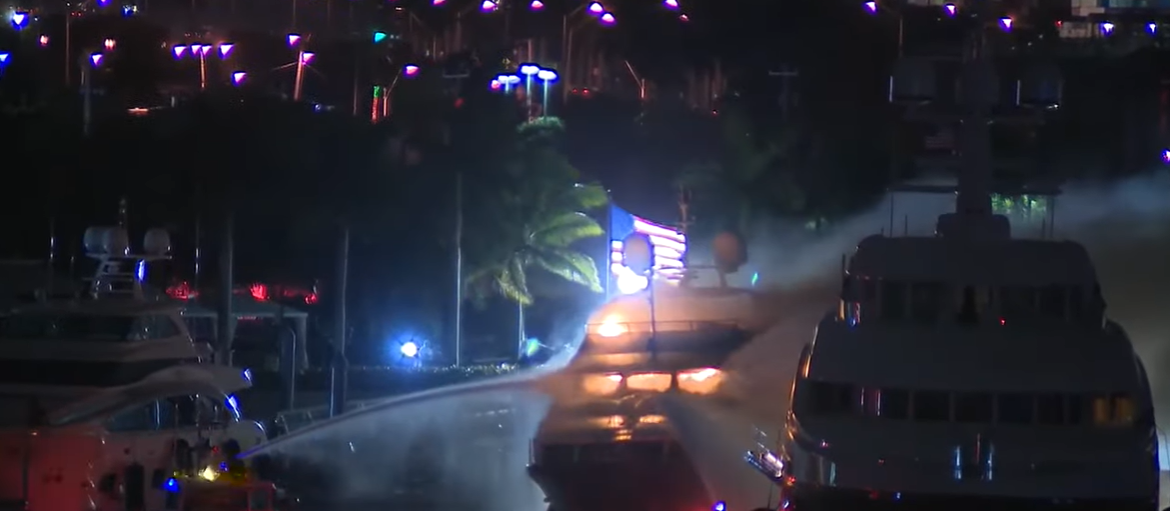 marc anthony yacht fire