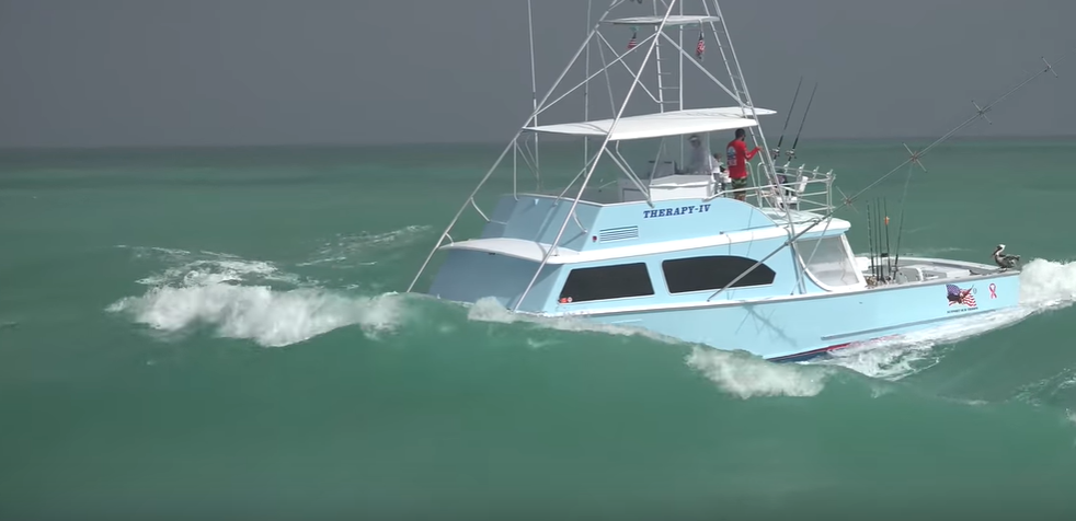 therapy iv sportfish haulover inlet footage