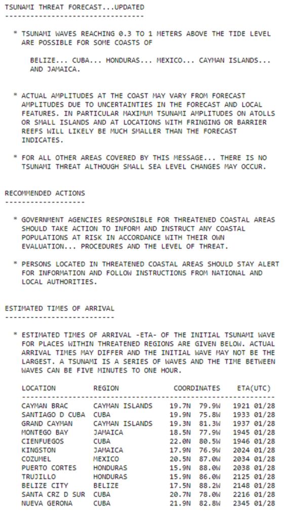 miami tsunami warning