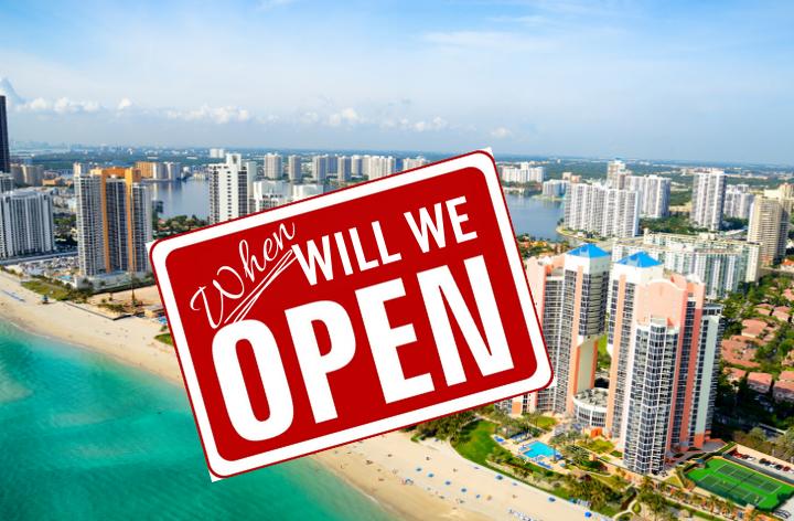 when will miami beaches reopen