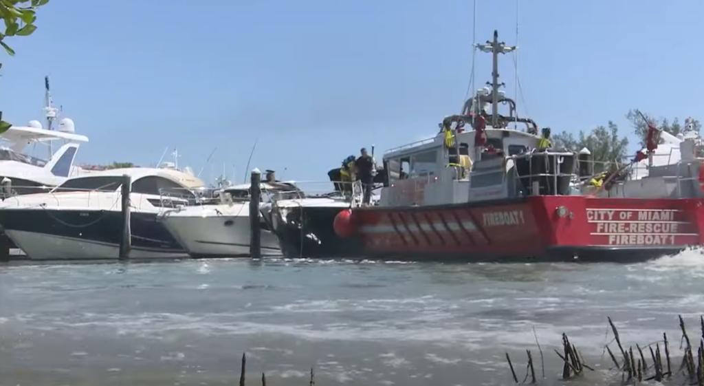 key biscayne marina fire boat