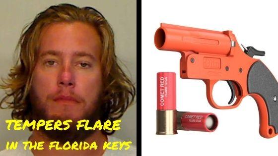 florida man fired a flare gun
