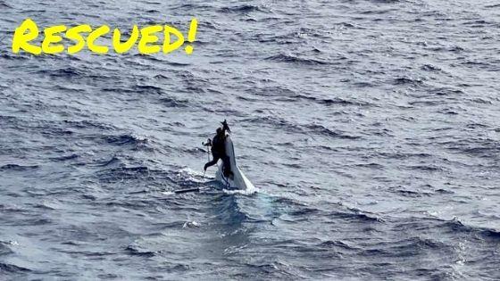 man found at sea